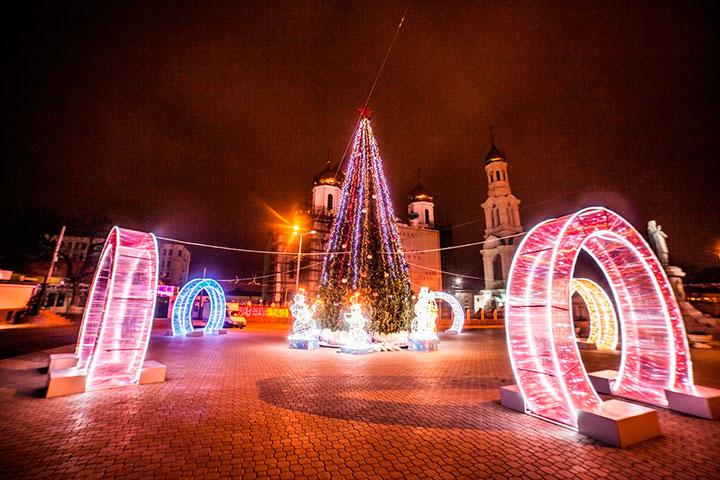 Новый год 2018 в Ростове-на-Дону
